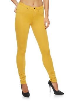 Stretch Knit Skinny Pants - 3074056572123