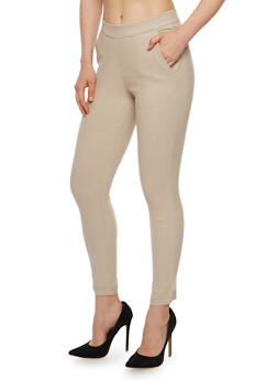 Solid Soft Knit Jeggings - 3074056572216