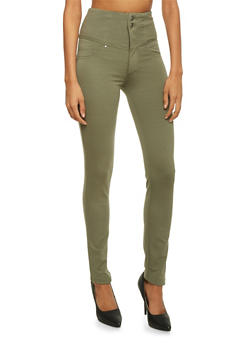 High Waisted Skinny Pants - 3074056572221