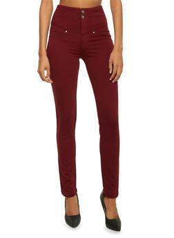 High Waisted Skinny Pants - 3074056572221