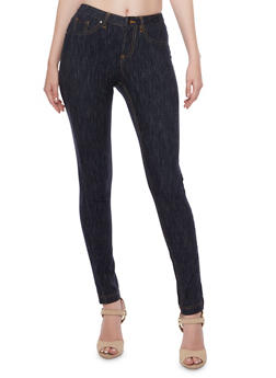 Knit Denim Skinny Pants - 3074056574017