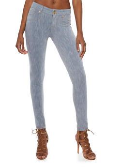 Stretch Knit Skinny Jeans - 3074056574019