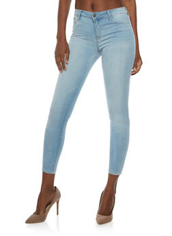 Cello Light Wash Cropped Skinny Jeans - 3074063151395