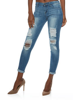 Cello Destroyed Skinny Jeans - 3074063151413