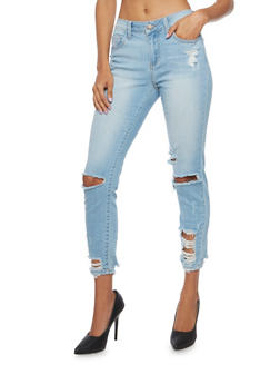 Cello Distressed Boyfriend Jeans - 3074063154421