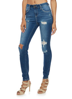 Cello Jeans with Distressed Front - 3074063155025