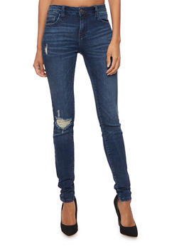Cello Distressed Skinny Jeans - 3074063155041