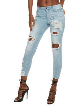 Cello Destroyed Skinny Jeans - 3074063155272
