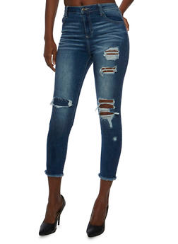 Cello Frayed Ankle Skinny Jeans - 3074063155311