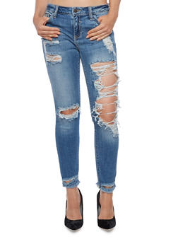 Cello Destroyed Skinny Jeans - 3074063155359