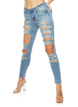 Cello Ripped Skinny Jeans - 3074063155389