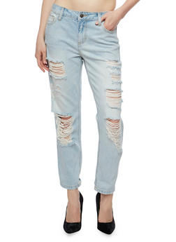 Cello Distressed Light Wash Jeans - 3074063155510