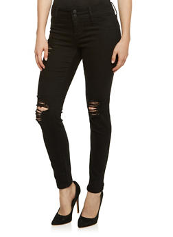 Cello Distressed Skinny Jeans - 3074063155945