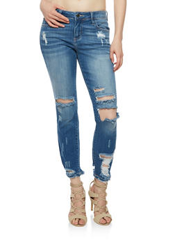 Cello Whisker Wash Skinny Jeans - 3074063157553