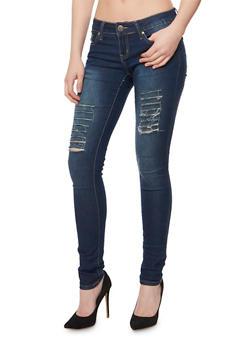 VIP Distressed Skinny Jeans - 3074065300989
