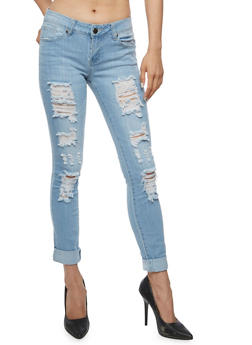 VIP Ripped Skinny Jeans - 3074065301647