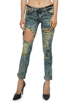VIP Ripped Skinny Jeans - 3074065301652