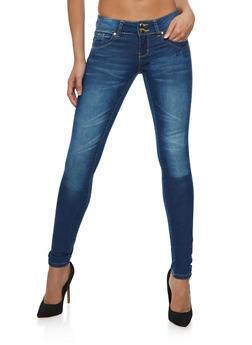 VIP Medium Wash Skinny Jeans - 3074065301820