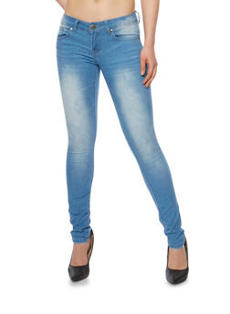 VIP Light Wash Skinny Jeans - 3074065301875