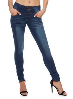 VIP Wide Waist Skinny Jeans - 3074065301906