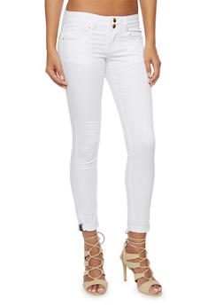 VIP Skinny Jeans with Double Buttons - 3074065302820