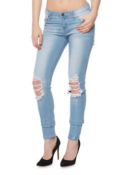 VIP Ripped Knee Skinny Jeans - 3074065302841
