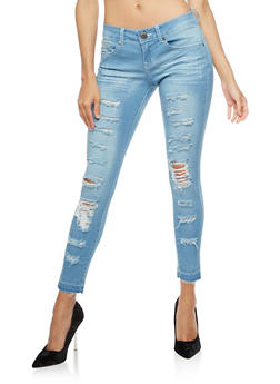 VIP Destroyed Skinny Jeans - 3074065302846