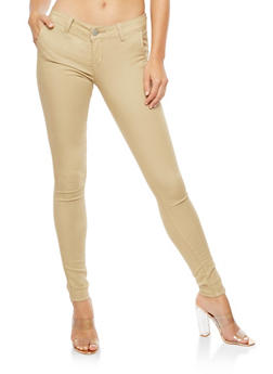 Solid Skinny Push Up Jeans - 3074065302849