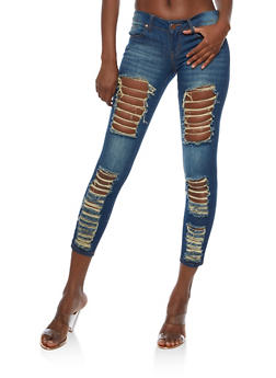 VIP Destroyed Skinny Jeans - 3074065302889
