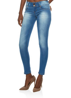 VIP Two Button Skinny Jeans - 3074065307148