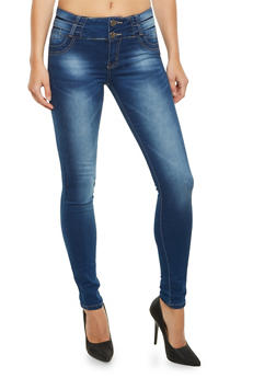 VIP High Waisted Skinny Jeans - 3074065307596