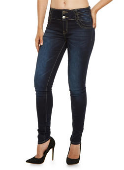 VIP High Waisted Skinny Jeans - 3074065307596