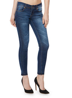 Released Hem Skinny Jeans - 3074065307769