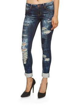 VIP Jeans Rip and Repair Skinny Jeans - 3074065308015
