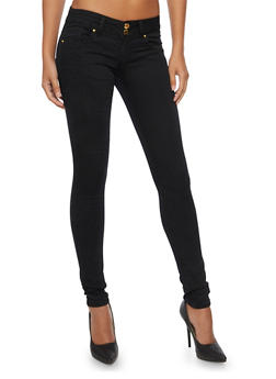 VIP Skinny Jeans with Double Buttons - 3074065308208