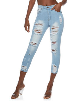 VIP Destroyed Skinny Jeans - 3074065308771