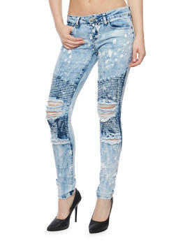 VIP Paint Splattered Moto Jeans - 3074065308887