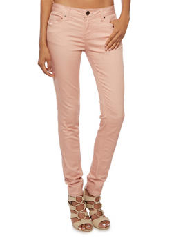 Colored Skinny Jeans - MAUVE - 3074069394613