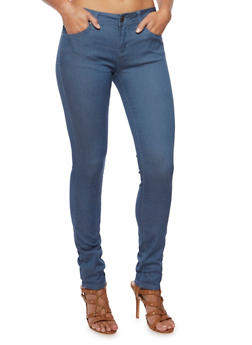 Colored Skinny Jeans - BLUE - 3074069394613