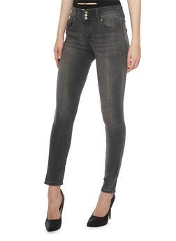 Highway Jeans High Waisted Five Pocket Skinny Jeans - 3074071310916