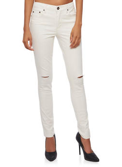 Highway Jeans Colored Skinny Jeans with Ripped Knees - 3074071310928