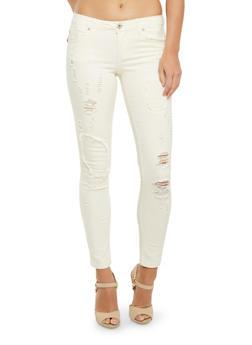 Highway Jeans Five-Pocket Distressed Jeans - 3074071310969