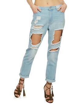 Highway Destroyed Mom Jeans - 3074071319036