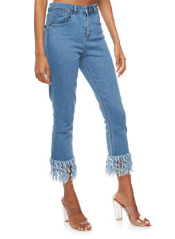 Highway Frayed Hem Cropped Jeans - 3074071319078