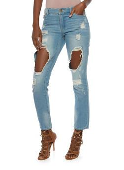 Highway Destroyed Mom Jeans - 3074071319092