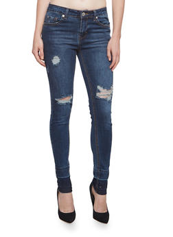 Highway Skinny Jeans with Released Hem - 3074071319330