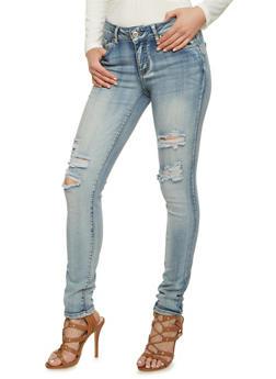 WAX Distressed Skinny Jeans - 3074071610046