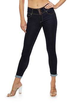 WAX 3 Button Push Up Jeans - 3074071610084