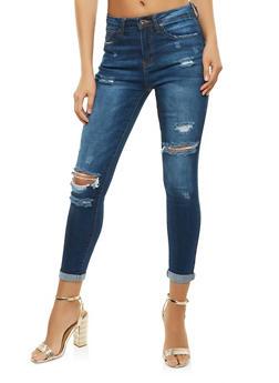 WAX Distressed Skinny Jeans - 3074071610120