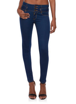Wax High Waisted Skinny Jeans - 3074071610901